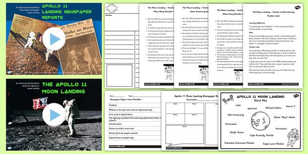 Apollo 11 Moon Landing Report Teaching Pack - apollo 11, space