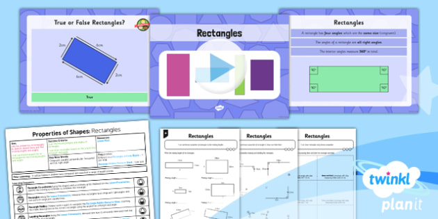 PlanIt Y5 Properties of Shapes Lesson Pack Properties of Rectangles (1) - Properties of Shapes, rectangles, quadrilaterals, 2D shapes, geometric shapes