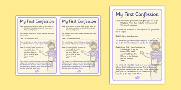 Sacrament of Reconciliation Rite of Penance Order - religion , religious education , first confession , first penance , first reconciliation , reconciliation , examination of conscience , sins , prayer , forgiveness , prepare for first confession, ro