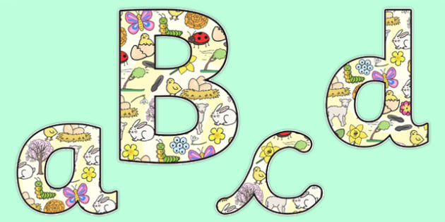 Spring Themed Display Lettering - Display lettering, spring themed, spring themed display lettering, spring display, themed display letters