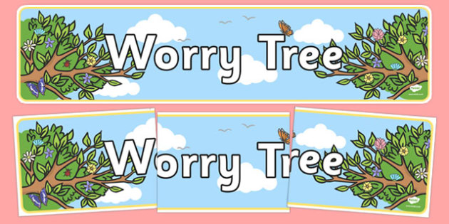 Worry Tree Display Banner - worry tree, display banner, display, banner