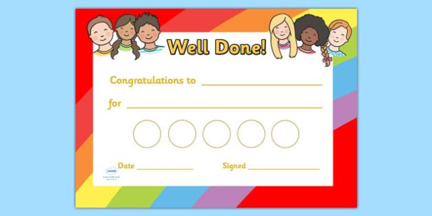 Ourselves Sticker Reward Certificates (30mm) - Ourselves Reward Certificate (30mm), reward certificate, certificate, ourselves, reward, 30mm, stickers, twinkl stickers, award, certificate, well done, behaviour management, behaviour