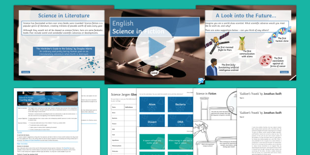 Science in Fiction  British Science Week Lesson Pack - Events Resources, Gulliver's Travels, Jonathan Swift, Science Week, jargon, verisimilitude, contemp