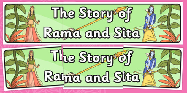 The Story of Rama and Sita Display Banner - diwali, hinduism