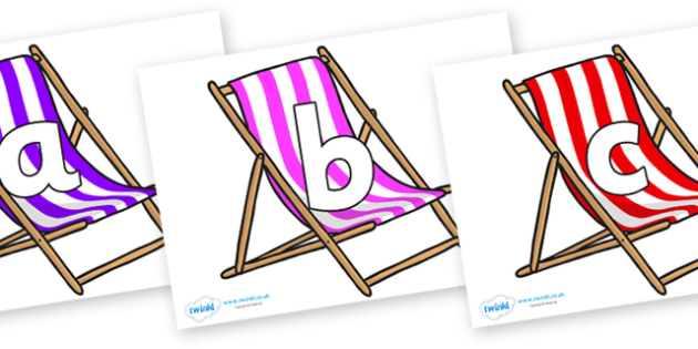 Phoneme Set on Deck Chairs - Phoneme set, phonemes, phoneme, Letters and Sounds, DfES, display, Phase 1, Phase 2, Phase 3, Phase 5, Foundation, Literacy