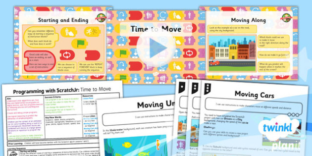 Computing: Programming with ScratchJr: Time to Move Year 1 Lesson Pack 3