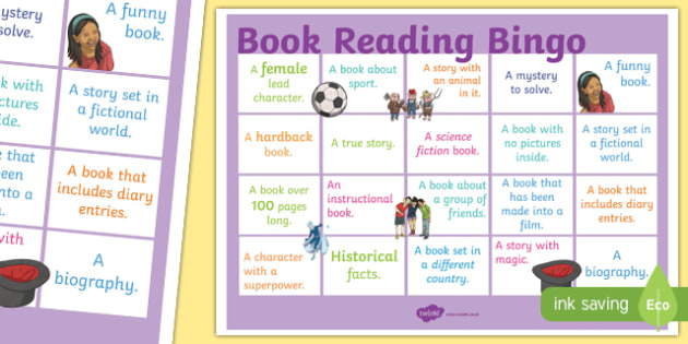 Book Reading Bingo A3 Display Poster - book, reading, read, bingo, a3, display poster, display, poster