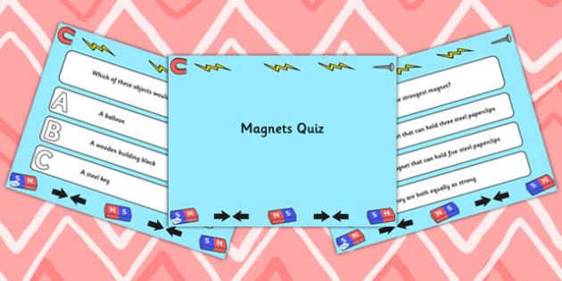 Magnets PowerPoint Quiz - magnets, powerpoint, quiz, quizzes