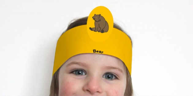 Bear Hunt Role Play Headbands - We're Going on a Bear Hunt, roleplay, props, bear hunt