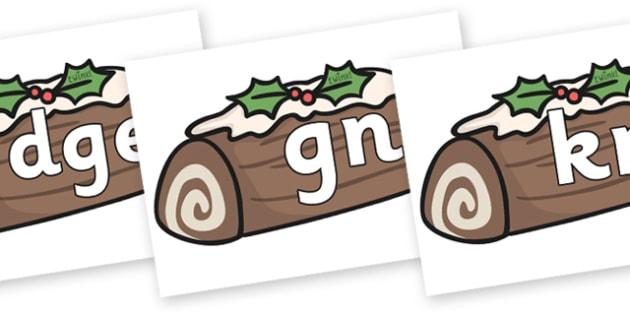 Silent Letters on Christmas Logs - Silent Letters, silent letter, letter blend, consonant, consonants, digraph, trigraph, A-Z letters, literacy, alphabet, letters, alternative sounds
