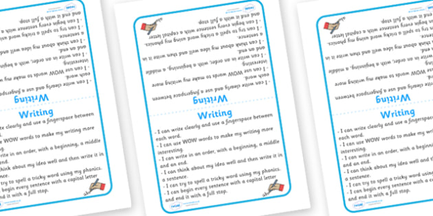 Tabletop Visual Targets English Writing - English, sign, writing, target, table sign, visual, Literacy, KS1, Foundation Stage, Literacy, CLL