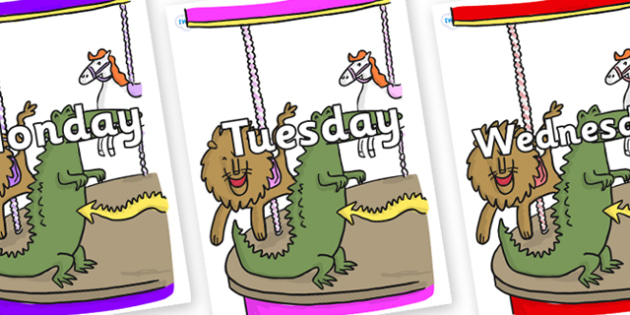 Days of the Week on Trick 3 to Support Teaching on The Enormous Crocodile - Days of the Week, Weeks poster, week, display, poster, frieze, Days, Day, Monday, Tuesday, Wednesday, Thursday, Friday, Saturday, Sunday
