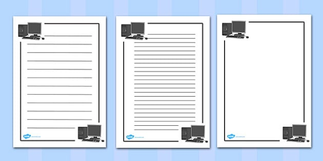 ICT Page Borders - ICT, computers, page border, a4 border, template, writing aid, writing border, page template, computer area