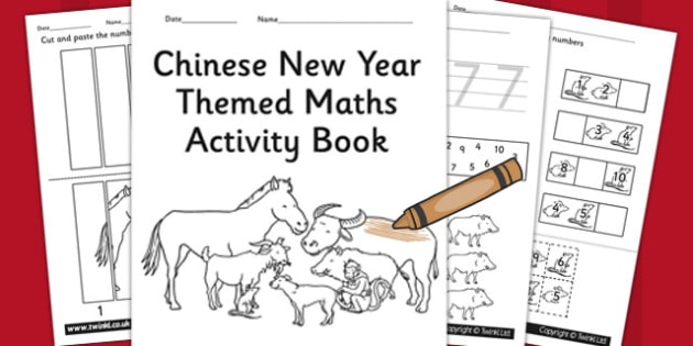 Chinese New Year Themed Maths Activity Book - maths, activity