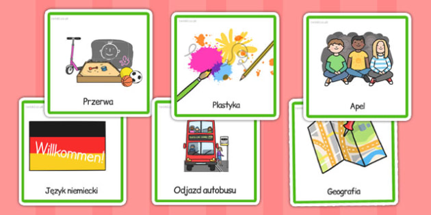 KS2 Visual Timetable Polish - aid, SEN, support, schedule, rota, routine, pictures, order, children, lessons, activities, week, ks2, key stage 2