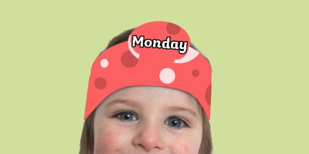 Days of the Week Headbands - days, week, headband, head, band