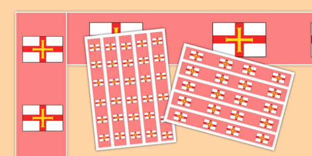 Guernsey Flag Display Borders - guernsey flag, guernsey, flag, display borders, display, borders
