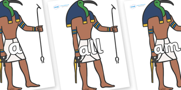 Foundation Stage 2 Keywords on Egyptian Priests - FS2, CLL, keywords, Communication language and literacy,  Display, Key words, high frequency words, foundation stage literacy, DfES Letters and Sounds, Letters and Sounds, spelling