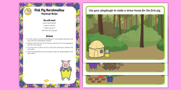 The Three Little Pigs Playdough Recipe and Mat Pack