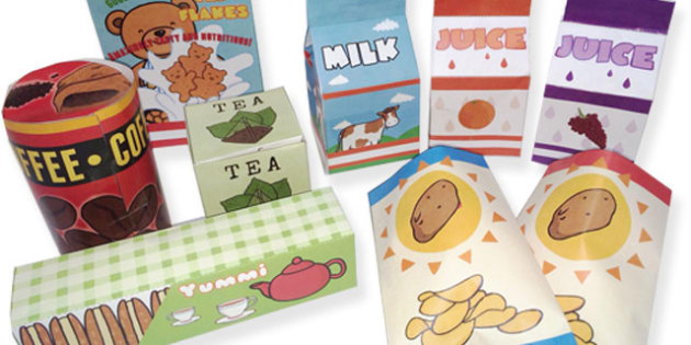 Roleplay Supermarket Product Boxes Pack - role play, shopping