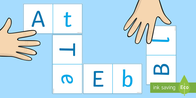 Letters Loop Cards (Upper & Lowercase) - Letters Loop Cards, uppercase, lowercase, loop cards, cards, flashcards, loop, image, letters, alphabet, a-z, letter
