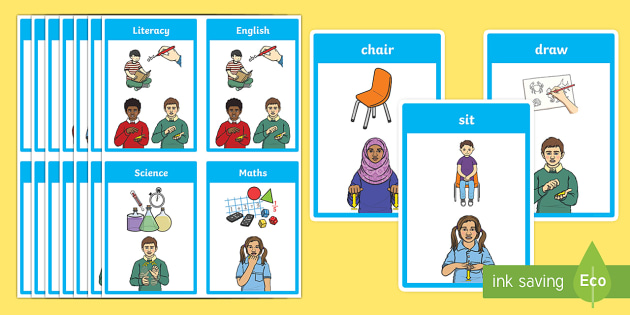 BSL Classroom Flashcards