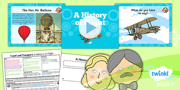 History: Travel and Transport: A History of Flight KS1 Lesson Pack 5