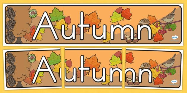 Seasons Banners Autumn - seasons, autumn, weather, banner