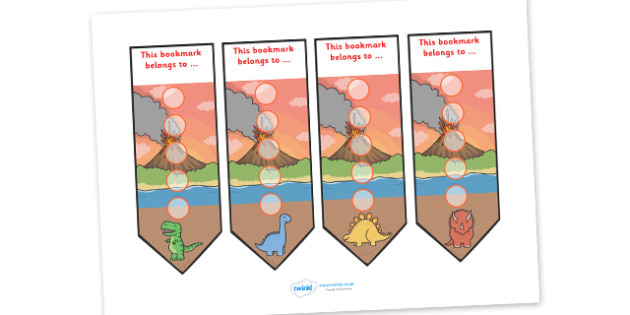 Dinosaur Sticker Reward Bookmarks (15mm) - Dinosaur Reward Bookmarks (15mm), dinosaur, reward bookmarks, bookmarks, reward, 15mm, 15 mm, stickers, twinkl stickers, award, certificate, well done, behaviour management, behaviour,