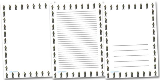 Female Firefighter Portrait Page Borders- Portrait Page Borders - Page border, border, writing template, writing aid, writing frame, a4 border, template, templates, landscape