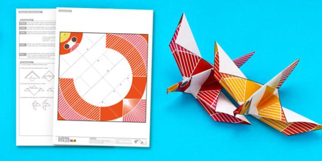 Enkl Origami Dove Printable - Enkl, arts, crafts, activity, adult, home, decor, designer, designer, decoration, interior, project, printable, cute, simple, paper, models, 3D, shape, colour, dove, origami
