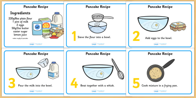 Pancake Recipe Sheets With Measurements - pancakes, pancake day