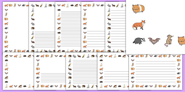 Nocturnal Animals Page Borders Pack - nocturnal animals, page borders, pack, page, borders
