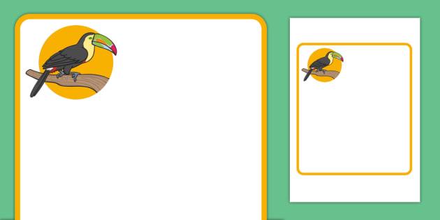 Toucan Themed Editable Classroom Area Display Sign - Themed Classroom Area Signs, KS1, Banner, Foundation Stage Area Signs, Classroom labels, Area labels, Area Signs, Classroom Areas, Poster, Display, Areas