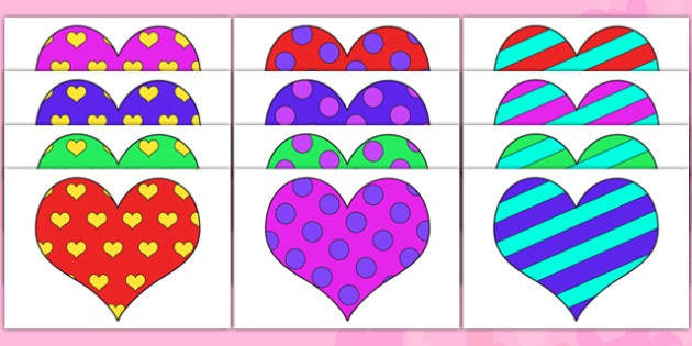 Valentine's Day Patterned Hearts - Valentine's Day, Valentine, love, Saint Valentine, heart, hearts, pattern, kiss, cupid, gift, roses, card, flowers, date, letter, girlfriend, boyfriend, partner