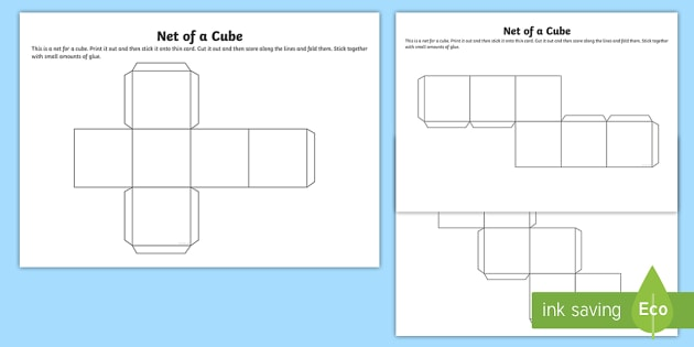 Net Of A Cube - Net, Cube, Platonic Solids, Activity, Building