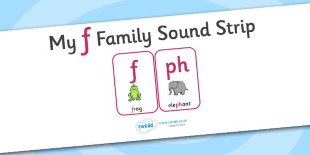 My f Family Sound Strip - family sound strip, sound strip, my family sound strip, my f sound strip, f sound strip, f family sound strip
