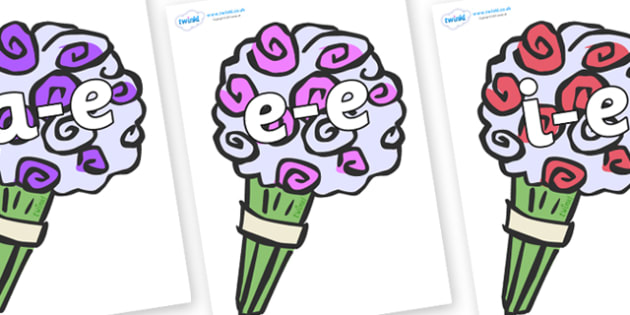 Modifying E Letters on Bouquets - Modifying E, letters, modify, Phase 5, Phase five, alternative spellings for phonemes, DfES letters and Sounds