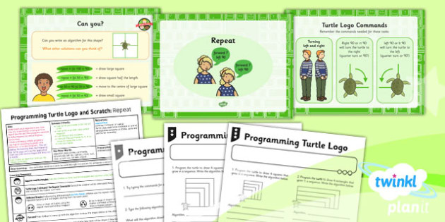 Computing: Programming Turtle Logo and Scratch Repeat Year 2 Lesson Pack 2