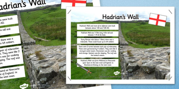 Hadrian's Wall Facts Display Poster - hadrian's wall, facts, display poster