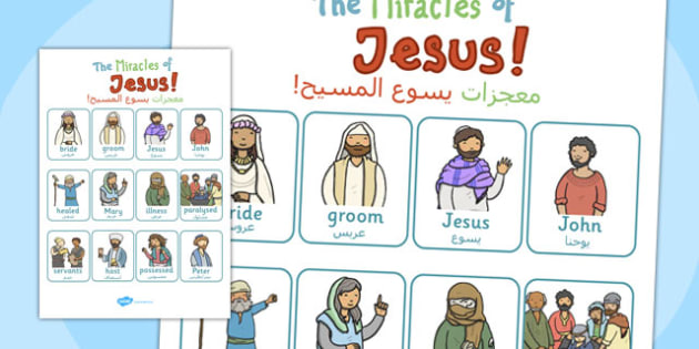 The Miracles of Jesus Bible Stories Vocab - miracles, jesus, stories