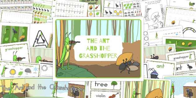 The Ant and the Grasshopper Resource Pack - australia, pack