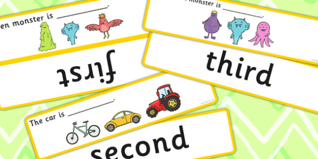Fill In The Sentence Ordinal Numbers Time Concept Cards - concept
