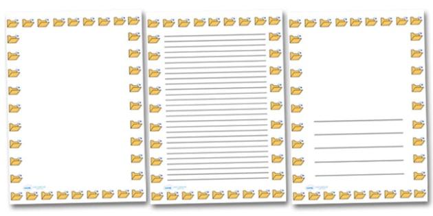 Open Folder Portrait Page Borders- Portrait Page Borders - Page border, border, writing template, writing aid, writing frame, a4 border, template, templates, landscape