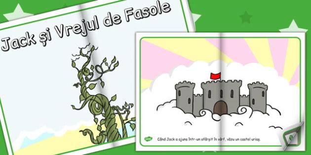 Jack si Vrejul de Fasole, rezumat cu imagini, poveste ilustrata, Romanian