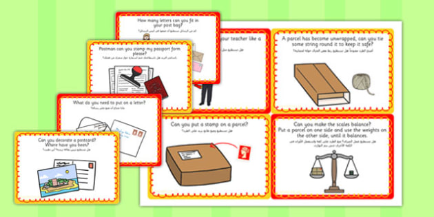 Challenge Cards Post Office Arabic Translation - arabic, challenge