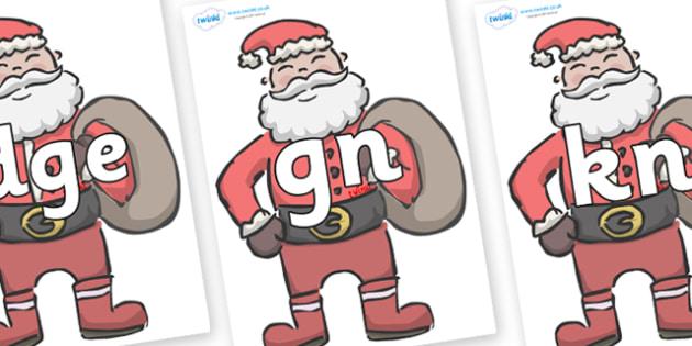 Silent Letters on Santas - Silent Letters, silent letter, letter blend, consonant, consonants, digraph, trigraph, A-Z letters, literacy, alphabet, letters, alternative sounds
