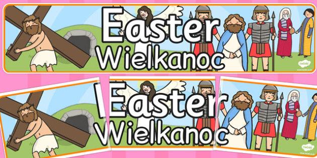 Easter Display Banner Polish Translation - displays, banners