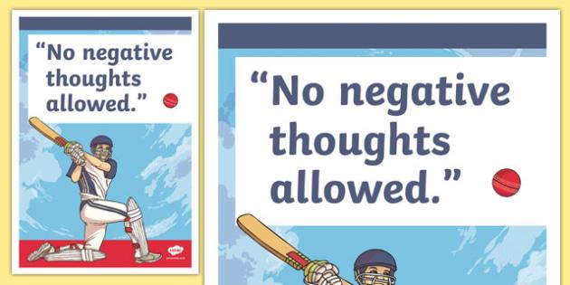 No Negativity Inspirational Classroom Quote Display Poster - usa, america, inspirational quote, display, motivation, inspiration, no negativity