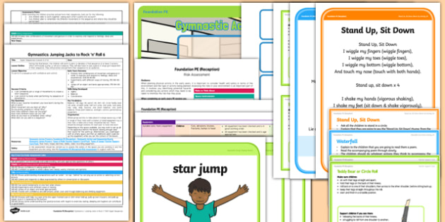 Foundation PE (Reception) - Gymnastics - Jumping Jacks and Rock 'n' Roll Lesson Pack 6: Super Sequences - EYFS, PE, Physical Development, Planning